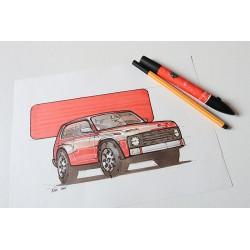 Croquis revival Lada Niva