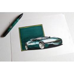 croquis Aston Martin