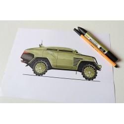 Croquis Jeep Army
