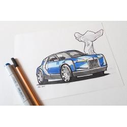 Croquis Rolls Royce