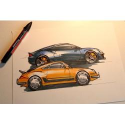 Croquis Porsche