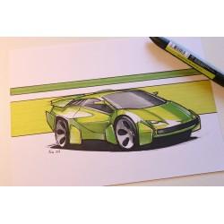 croquis Lamborghini